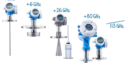 113 GHz: The most complete portfolio for radar type level measurement